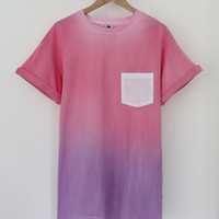 ANDCLOTHING — Pink Purple Sherbet Dip Dye Tee  SOLD OUT