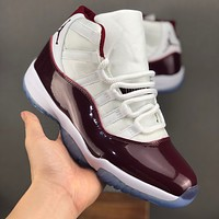 Air Jordan 11 Retro Bordeaux White High Top Sneaker - Best Deal Online