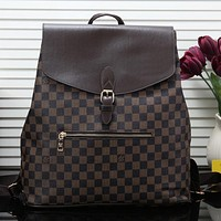 LV Louis Vuitton Women Fashion Leather Backpack Shoulder Bag Satchel