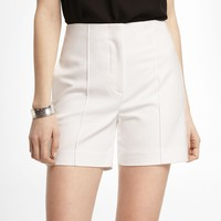 4 1/2 INCH HIGH RISE PINTUCKED SHORTS