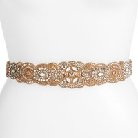 Women's Glint 'Arabesque' Beaded Stretch Belt
