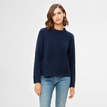 Puffy Crewneck Sweater - Navy