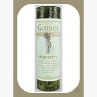 """""""Prosperity"""" Pillar Candle with Goddess Necklace"""