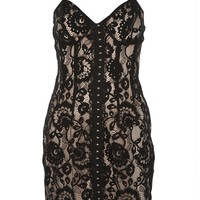 Hook and Eye Bustier Dress - Dresses - Clothing