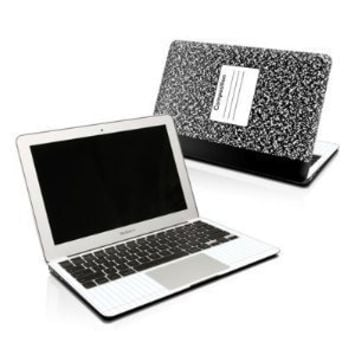 Composition Notebook Design Protector Skin Decal Sticker for Apple MacBook Air 13 inch (released in Jan 2008)