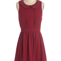 ModCloth Mid-length Sleeveless A-line Stanzas and Syntax Dress