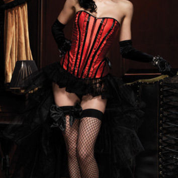 Strapless Ruffle Corset, Betty Corset with Support Boning, Corset with Boning, Leg Avenue, Angel Bodywear