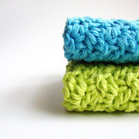 Washcloths Knit Bathroom Home Colorful Kitchen Eco by MyHobbyShop