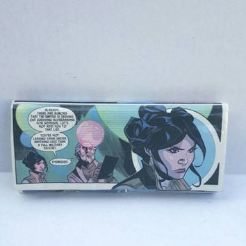 Princess Leia Comic Book Wallet - Duct Tape Wallet - Clutch Wallet