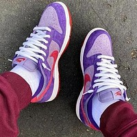 Nike Dunk SB Low Plum Fashionable Women Men Casual Sport Running Shoes Sneakers