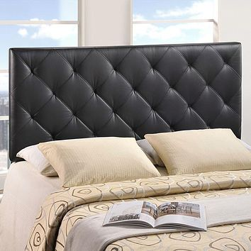 Elegant Upholstered, Deep Button Tufted, Padded Fabric or Vinyl Headboards