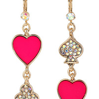CASINO ROYALE MISMATCH HEART EARRINGS