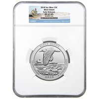 2018 5 oz Silver America the Beautiful Block Island NGC MS-69 (Early Releases)
