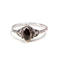 Brandy ♥ Melville |  Victorian Style Black Ring - Jewelry - Accessories