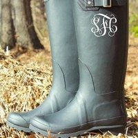 Dancing In The Rain Boots - Black