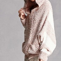 Hooded Marled Dolman Jacket
