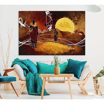 Large African Canvas Wall Art Print