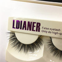 1Pair New Real Mink Natural Long Black False Eyelashes Fake Eye Lashes Makeup Extension Tools