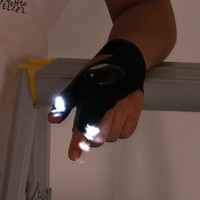 ATS Fingerless LED Tactical Glove