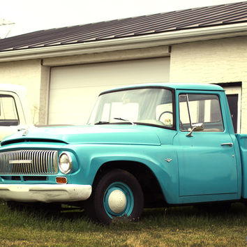 Old Truck Photography - Blue Ford International - 1960's