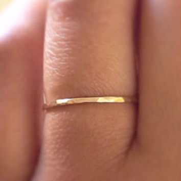 Woman's Solid 14k Yellow Gold Ring,14k Gold Wedding Ring, Solid Gold Promise Ring,Gold Stacking Ring, Gold Minimalist Ring, Gold Boho Ring