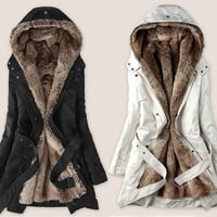 New Hot Fashion Women Winter Coat Lady Outwear Fur Jacket Size S-XXXL  _ 9295