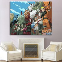Naruto Sasauke ninja Framework DIY By Numbers Kits Coloring Painting  Acrylic Paint On Canvas Fashion Cuadros Picture For Home Decoration AT_81_8