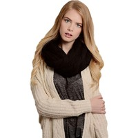 Classic Cable Knit Infinity, Black