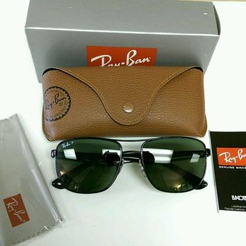 Tagre™ Cheap New Authentic Ray Ban 3533 Steel Man Polarized Aviator Sunglasses Retail $185!! outlet