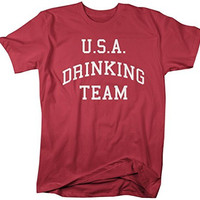 Shirts By Sarah Men's U.S.A. Drinking Team T-Shirt 4th July Shirts