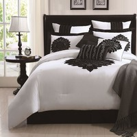 Copolla 9-pc. Comforter Set - Queen (Black)