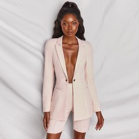 yelainse29 Explosive Fashion Long Sleeve One Button Sexy Suit Shorts Set