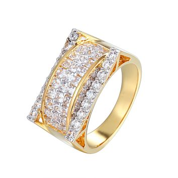 Designer 3D Solitaite Men's Bling Baguette Ring