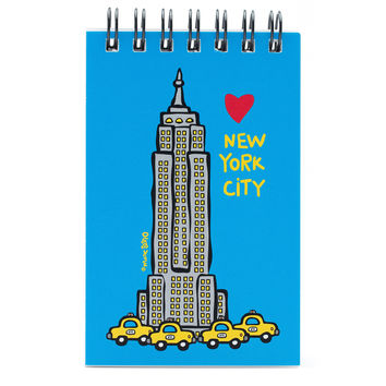 NYC Empire State Building Spiral Notepad