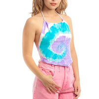 Vintage Renewed 90's Pastel Tie Dye Halter - One Size Fits Many