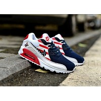 NIKE AIR MAX 90 fashion ladies men running sports shoes sneakers F-PS-XSDZBSH  The flag is white and blue and pink
