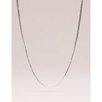 Sterling Silver Box Chain - 18 and 24 inch