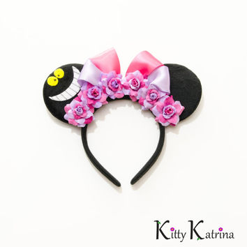 Cheshire Cat Mouse Ears Headband, Alice in Wonderland Dress, Alice in Wonderland Costume, Alice in Wonderland Party, Disneyland, Disney Ears