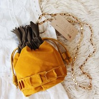 Pineapple Suede Tote