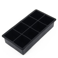 New Creative styling Silicone Black Big Giant Jumbo King Size Large Silicone Ice Cube Square Tray Mold Mould