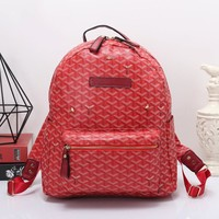 Goyard Women Leather Bookbag Shoulder Bag Handbag Backpack-3