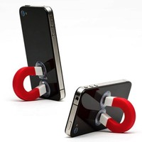 LOCOMO Multi Functional U Magnet Stand Holder Support Sucker iPhone iPod Cell Mobile Phone