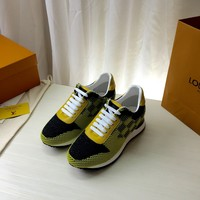 LV Louis Vuitton Men's Leather Sneakers Shoes