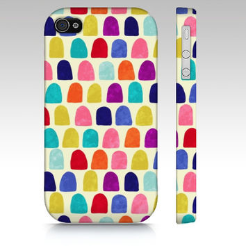 Geometric iPhone 5 case, iPhone 5s case, colorful whimsical, abstract painting, candy, gum drops pattern modern geometric art phone case