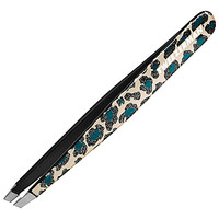 Tweezerman Glitterati Safari Animal Print Slant Tweezer Leopard