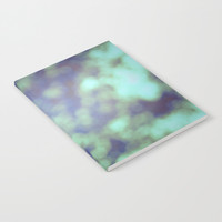 Green Bokeh Notebook - Blank Book - Lined - Unlined - Made to Order