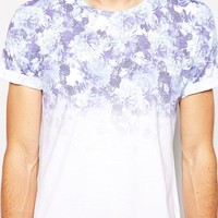 River Island   River Island T-Shirt With Floral Fade Print at ASOS