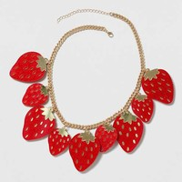 Strawberry Collar Necklace
