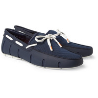 SWIMS - Rubber and Mesh Boat Shoes | MR PORTER