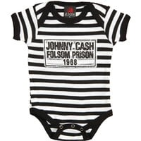 Johnny Cash Boys' Folsom Prison Bodysuit Black